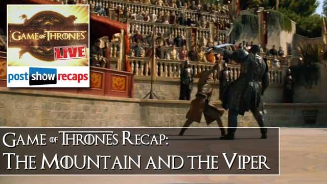 Game of Thrones Season 4, Episode 8 Recap: The Mountain and the Viper