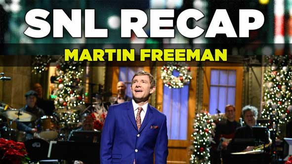 SNL Recap of Martin Freeman hosting Saturday Night Live on December 13, 2014