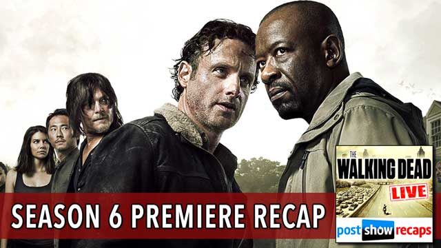 Walking Dead 2015: Rob Cesternino and AJ Mass recap The Walking Dead Season 6 Premiere - First Time Again
