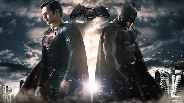 "Henry Cavill as Superman and Ben Affleck as Batman in ""Dawn of Justice"""