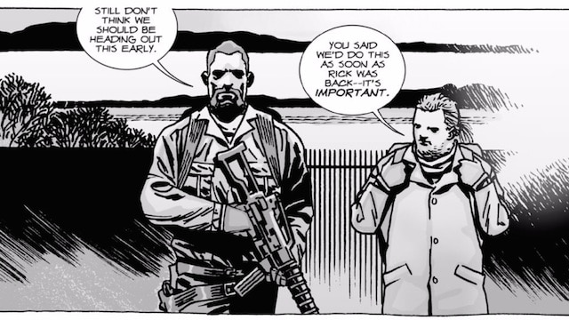 "Abraham and Eugene head out for a run in ""The Walking Dead"" #97"