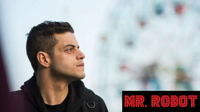 Rami Malek in the first episode of Mr. Robot